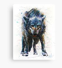 Wolf - last fight Canvas Print