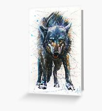 Wolf - last fight Greeting Card