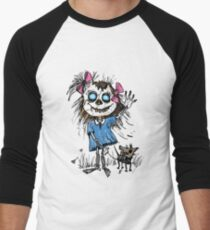 Zombie girl with puppy Men's Baseball ¾ T-Shirt