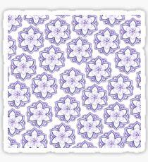 Hand drawn purple lavender white watercolor floral mandala pattern Sticker