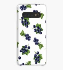 Watercolor black currants pattern Case/Skin for Samsung Galaxy