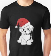 Maltese christmas gifts shirt with hat T-Shirt
