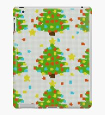xmas tree in style knitting iPad Case/Skin