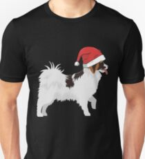 Papillon christmas gifts shirt with hat T-Shirt