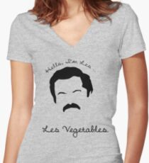 Les Vegetables. More Happiness.  Women's Fitted V-Neck T-Shirt