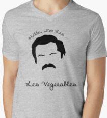 Les Vegetables. More Happiness.  Men's V-Neck T-Shirt
