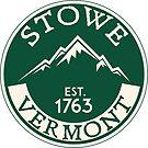 SKIING STOWE VERMONT SKI MOUNTAINS SNOWBOARD by MyHandmadeSigns
