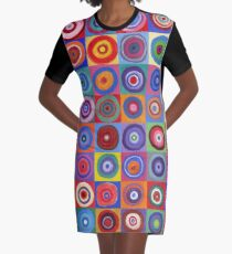 In Square Circle 64 Graphic T-Shirt Dress