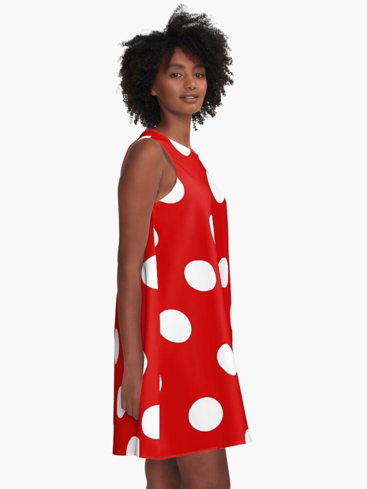 Alternative Ansicht von Rote und weiße Tupfen | Halloween Outfit A-Linien Kleid