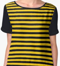 Black and Yellow Bee | Stripes | Halloween Outfit Women's Chiffon Top