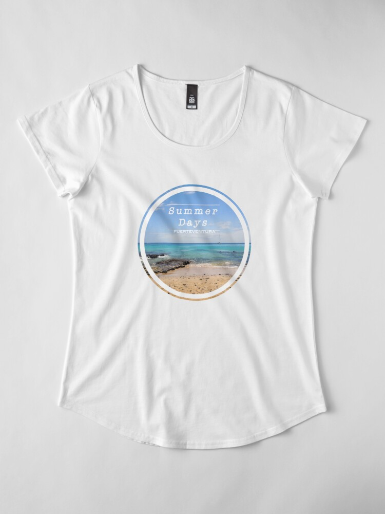 Alternate view of FUERTEVENTURA SUMMER DAYS Premium Scoop T-Shirt