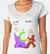 Pythagoras fights Einstein t-shirt Women's Premium T-Shirt