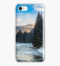 frozen river in forest iPhone Case/Skin