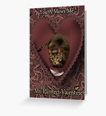YOU A-MEWS ME...MY PURRFECT VALENTINE Greeting Card