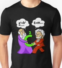 Pythagoras fights Einstein t-shirt T-Shirt