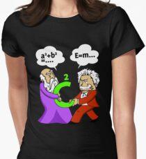 Pythagoras fights Einstein t-shirt Women's Fitted T-Shirt