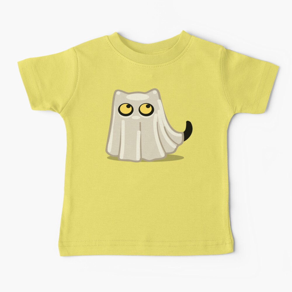 Cute Ghost Cat for Babies and Kids! Baby T-Shirt