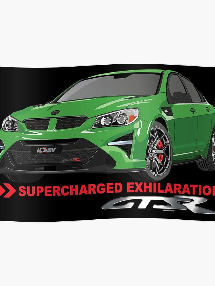 HSV GTSR - SUPERCHARGED EXHILARATION | Poster