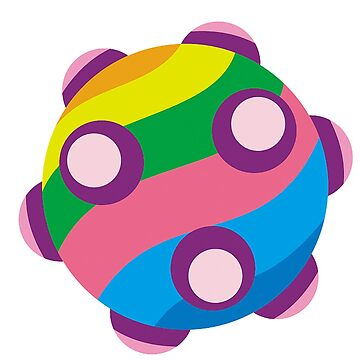 Colorful sticky rolling ball by sonorosan