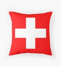 WEISSES KREUZ, auf ROT, Schweizer, Schweiz, Schweizer Flagge, Flagge der Schweiz, Weißes Kreuz, Schweizerische Eidgenossenschaft, Bodenkissen