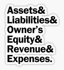 Accounting Accounts | Black Sticker