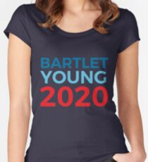Bartlet Young 2020 Election The West Wing Jed Bartlet Charlie Young Women's Fitted Scoop T-Shirt
