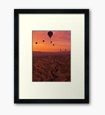 Balloons on Cappadocia Valley Framed Print
