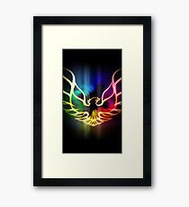 Neon Fire Bird Print Framed Print