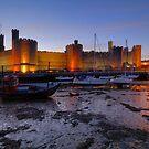 Caernarfon dusk by DualAspect