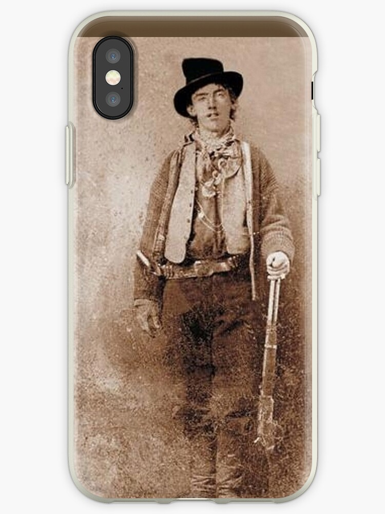 'WANTED, Billy the Kid, Henry McCarty, William H  Bonney, Cowboy, American,  Outlaw, Wild West' iPhone Case by TOM HILL - Designer
