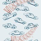 Vrooom! – Auto Muster von Bastian Groscurth