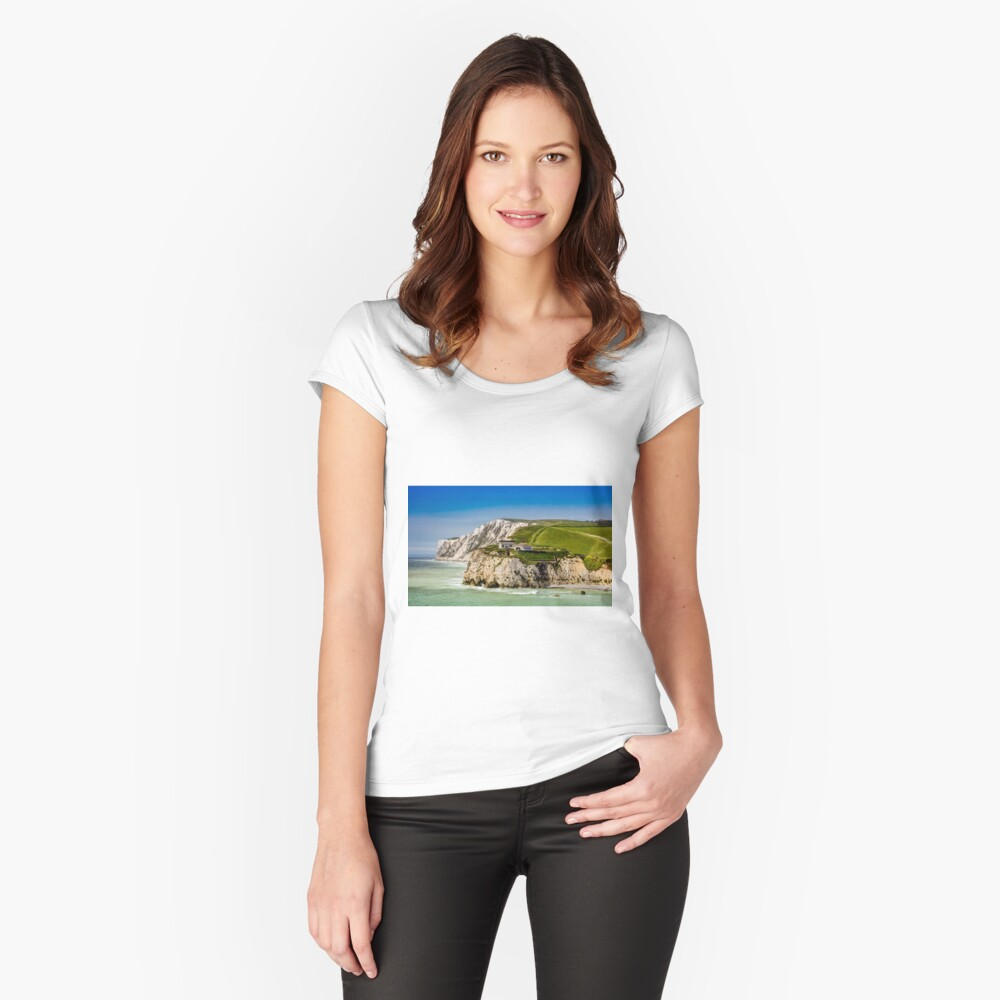 Fort Redoubt Freshwater Bay Isle Of Wight Fitted Scoop T-Shirt