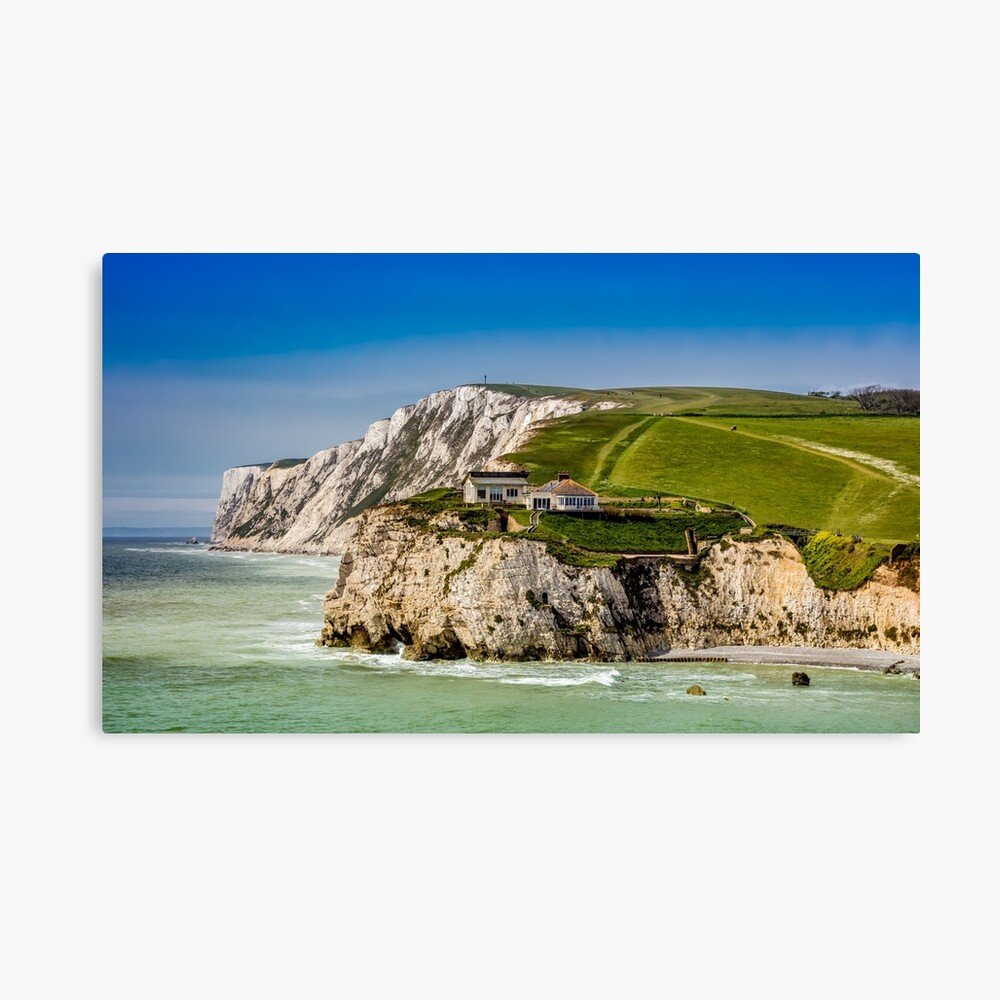 Fort Redoubt Freshwater Bay Isle Of Wight Canvas Print