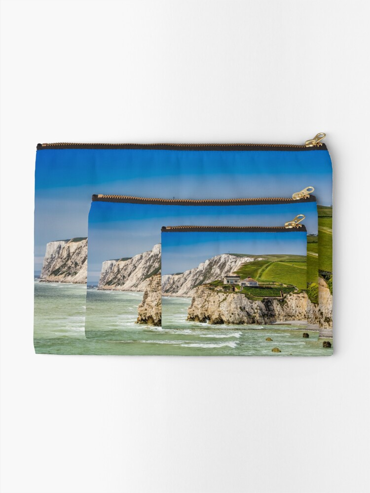Alternate view of Fort Redoubt Freshwater Bay Isle Of Wight Zipper Pouch