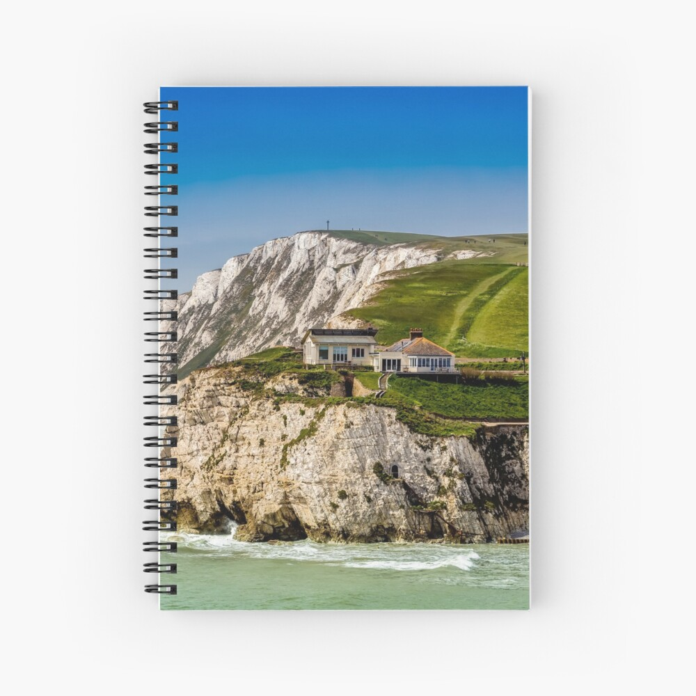 Fort Redoubt Freshwater Bay Isle Of Wight Spiral Notebook