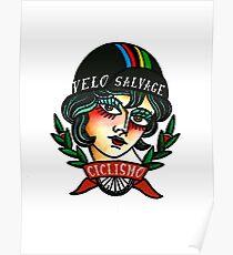 Vélo Salvage Ciclismo tattoo Poster