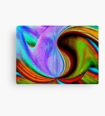 Stained glass waves Canvas Print