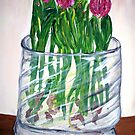 """""""A Few Tulips"""" by Adela Camille Sutton"""