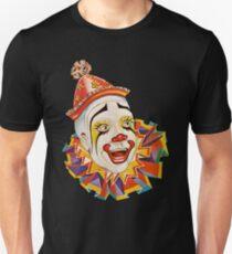 CLOWN, Scary, Horror, CLOWN, Clown Head, Zirkus, Vintage, Werbung, Poster, auf Schwarz Slim Fit T-Shirt