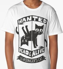 The Flash (Cisco's shirt) - Wanted Dead and Alive (Scrödinger's Cat) Long T-Shirt