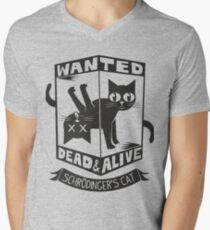 The Flash (Cisco's shirt) - Wanted Dead and Alive (Scrödinger's Cat) Men's V-Neck T-Shirt