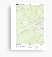 Maine USGS Historical Map Belfast 20110906 TM Canvas Print