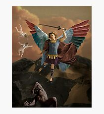 ST. Michael and the Devil Photographic Print
