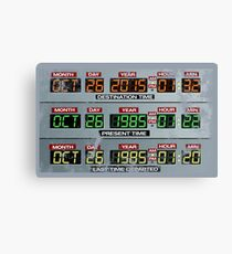 Back to the Future Control Panel  Canvas Print