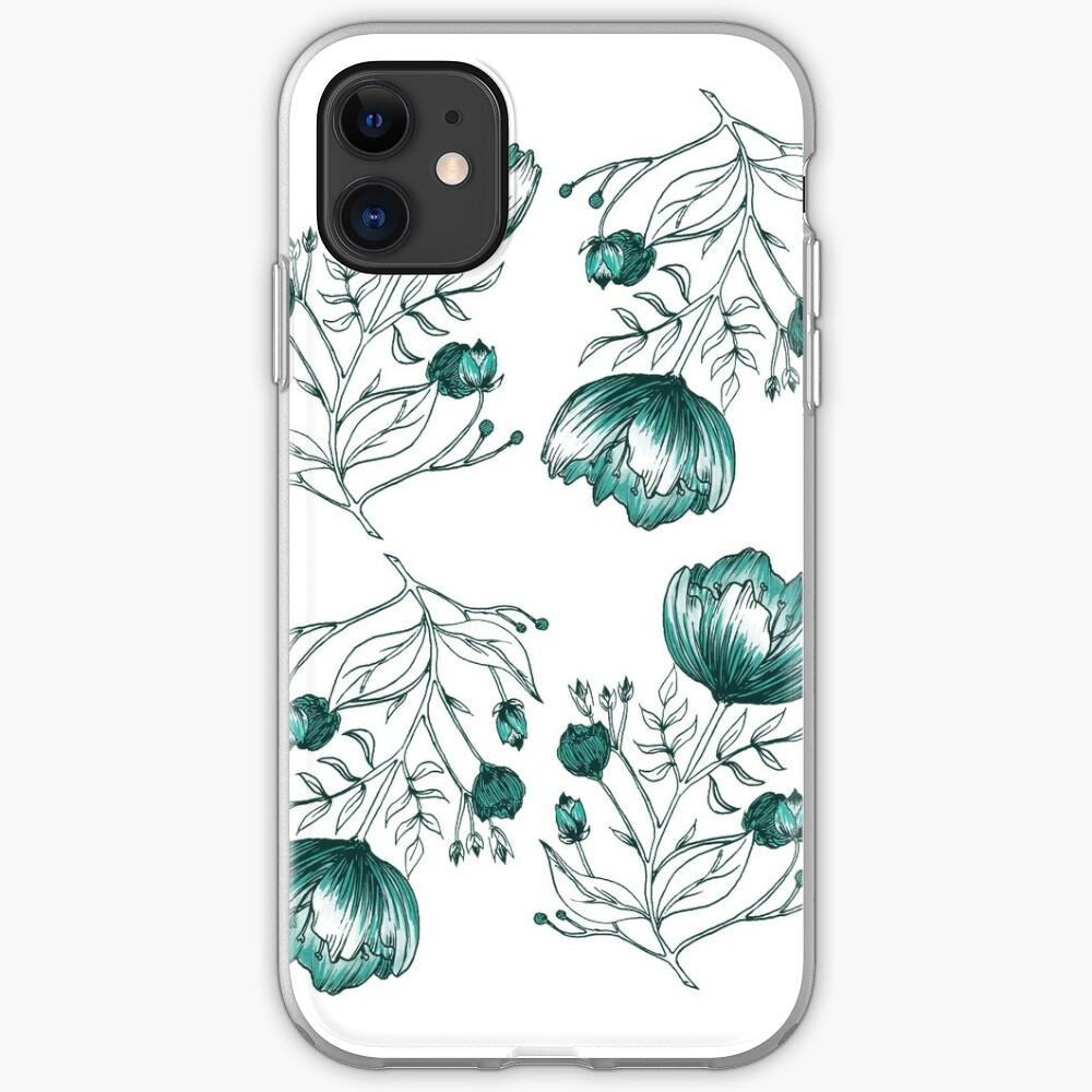 Coque iPhone «Fleur Bleue»