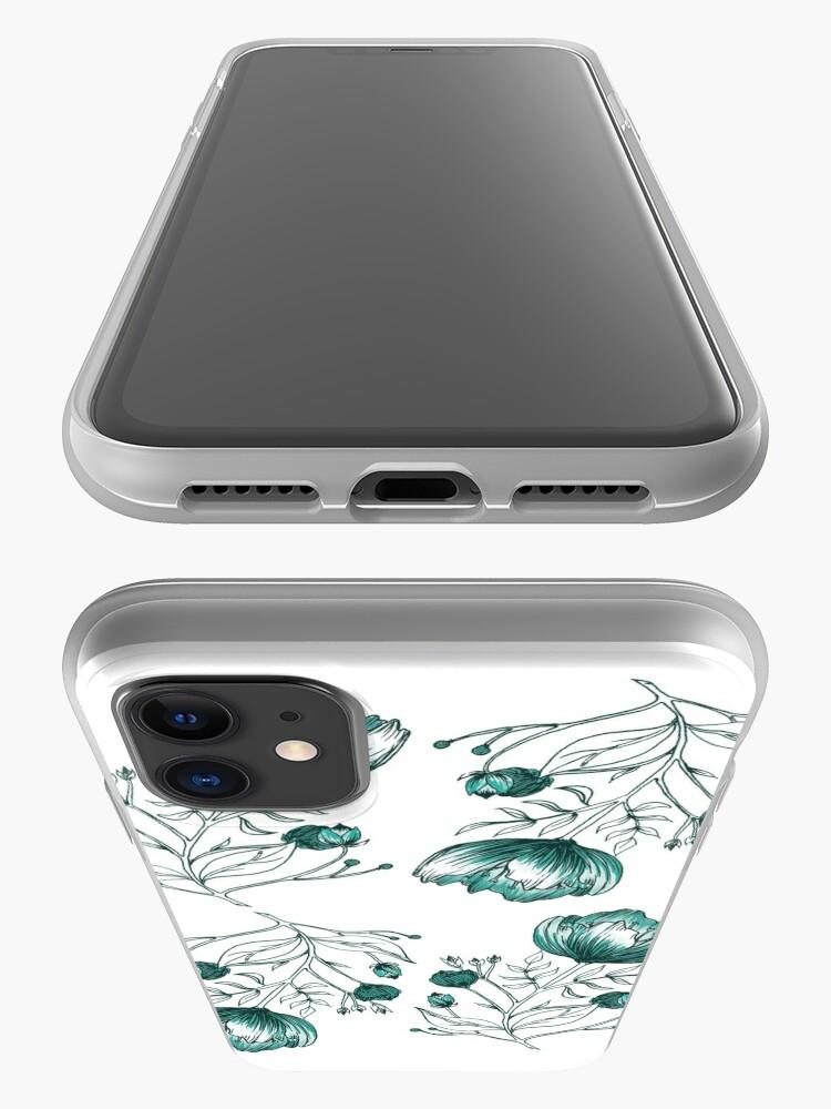 Coque iPhone ''Fleur Bleue': autre vue