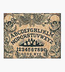 Angel of Death Ouija Board Photographic Print