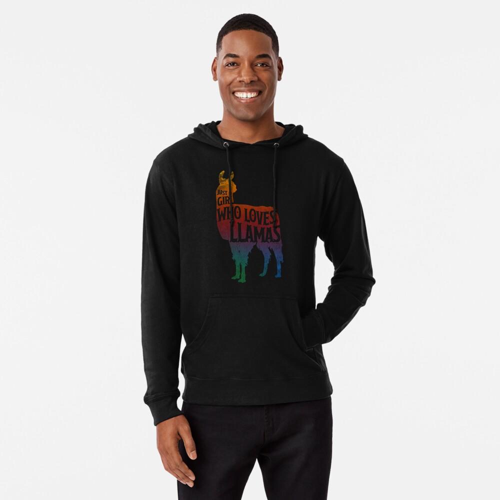 Mädchen, das Llamas, Lama-Liebhaber liebt Leichter Hoodie