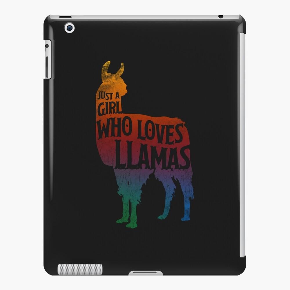 Mädchen, das Llamas, Lama-Liebhaber liebt iPad-Hülle & Skin