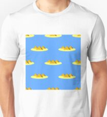 Lifebuoy and Anchor Icons Nautical Pattern on Blue. Lifequard Symmetric Background T-Shirt